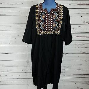 SCOTCH & SODA NWT Black Aztec Chest Dress